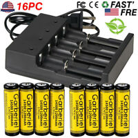 Garberiel 14500 Battery 3.7V Li-ion Rechargeable Batteries for led Flashlight US
