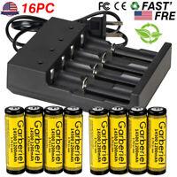Garberiel 14500 Battery 1200mAh Li-ion 3.7V Rechargeable For LED Flashlight USA