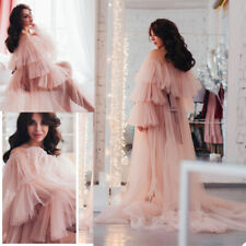 Robe Kimono Tulle Gown Off Shoulder Maternity Women Bridal Dress Photography