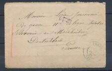 1871 Lettre en Franchise avec texte pour un prisonnier à Mechlimbourg P2942