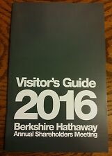New 2016 BERKSHIRE HATHAWAY SHAREHOLDER MEETING VISITORS GUIDE INFO booklet
