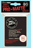 Ultra Pro 60 BLACK PRO-MATTE Small Size Deck Protector NEW Gaming Card Sleeves