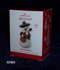 2013 Hallmark FELIZ NAVIDAD Mariachi Snowman MAGIC Ornament w/ Sound (Feliciano)