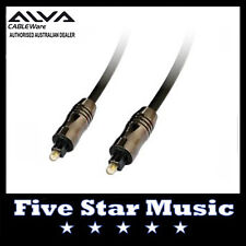 ALVA TOSLINK OPTICAL SPDIF ADAT LIGHTPIPE DIGITAL AUDIO CABLE 3M - NEW