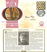 1 AUGUST 2000 TREE AND LEAF BENHAM FDC SIGNED BY RICHARD MABEY