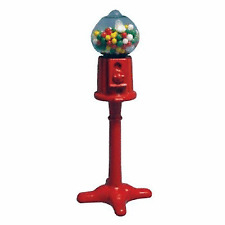 MINIATURE BUBBLEGUM MACHINE ON STAND - NEW  & FACTORY PACKAGED - 1/12 SCALE