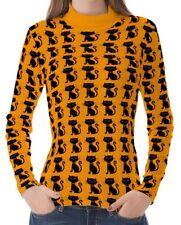 Katzen-hüftlange Langarm Damen-T-Shirts