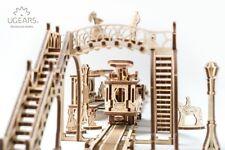 UGears-Mechanical Town Tram- 3DWooden Puzzles/Mechanical Models/Propelled Model