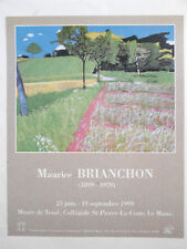 Maurice Brianchon Affiche originale Paysage Campagne Fresnay / Sarthe Poster