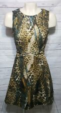 Jenifer Lopez A-Line Animal Print Dress Size 8