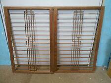 Vintage Japanese Shoji Sliding Door Window Panels CONTEMPORARY 2 Sections #52