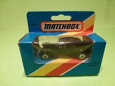MATCHBOX MB44 CITROEN 15 TRACTION AVANT - BLACK - VERY GOOD IN BOX