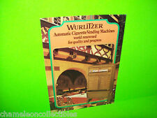 AUTOMATIC CIGARETTE MACHINES By WURLITZER ORIGINAL NOS VENDING MACHINE FLYER