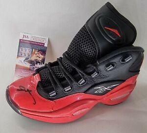 Allen Iverson signed Reebok Question shoe. JSA Witnessed COA