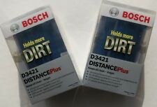 Bosch Oil Filters, Set of 2, D3421 Distance Plus
