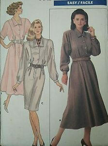 Vintage Butterick Ronnie Heller Easy Dress Sewing Pattern 5864 Size 14-16-18