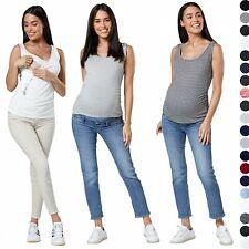 HAPPY MAMA Women's Maternity Nursing Sleeveless 2-PACK Vest Tops 1071