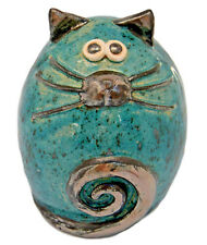 Grigio in ceramica Fat Cat Scaffale BABY-SITTER Indoor Decorazione Giardino Scultura Figurina Regalo