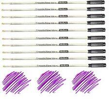 10 Cross Style Ballpoint Pen Refills, PURPLE INK, Medium Point, Smooth Flow Ink