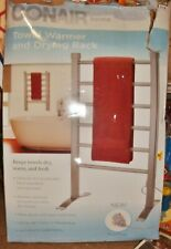 NEW Conair Home TOWEL WARMER DRYING RACK Wall Mount / Freestand Brushed Nickel