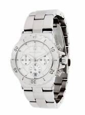 Relojes de pulsera baterías Chrono de acero inoxidable plateado