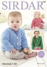 Sirdar 4860 Crochet Pattern Baby Childrens Easy Crochet Cardigans in Snuggly DK