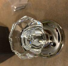 nib Door Knob Full Size Crystal Glass Handle One Side unused