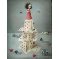 """Nicoletta Ceccoli Limited Edition Print """"CARD CASTLE"""" Signed! Last One!"""