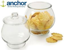Anchor Hocking Glass Coffee Cookie Biscuit Jar Container Storage & Lid