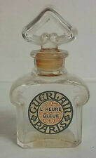 Guerlain L'Heure Bleue 2/3 oz Parfum French Perfume Bottle 1920's Label Tax Stam