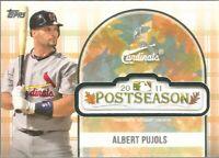 2018 Topps Update Albert Pujols 2011 Postseason Logo Patch Card Cardinals PSL-AP