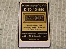 Roland D-50/D-550 International Gold D-502 ***WORLDWIDE SHPPING!