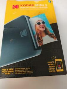 Kodak Mini 2 HD Wireless Portable Mobile Instant Photo Printer Black (YTP008061)