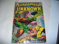 Challengers of the Unknown (1967) #56  12 cent DC Comic Good Silver Age