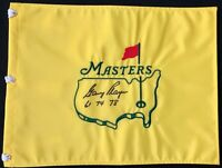 Gary Player Signed Undated Masters Augusta National Golf Pin Flag Autographed