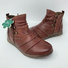 Spring Step Ankle Boots Shock Absorbing Comfort ZIP Shoes Women's Size EUR 37