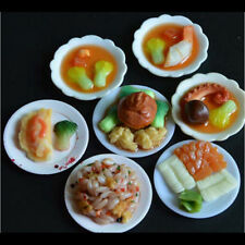 33 Pcs Dollhouse Miniature Tableware Plastic Plate Dishes Set Mini Food Pop UK