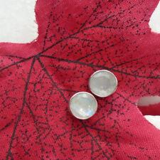 Mondstein, rund, facettiert, schlicht, Ohrringe, Ohrstecker, 925 Sterling Silber