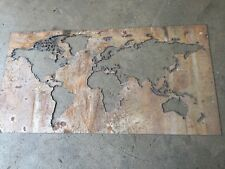 Plasma cut Map of the World Wall Hanger - Large