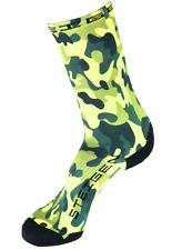 Steigen Green Camo Three Quarter Length Performance Running and Cycling Sock