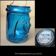 Antique 1897 Victorian Blue Christmas Fairy Candle Lamp Queen Victoria Bust