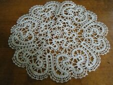 One Old Antique Doily Ialian Tape bobbin lace design hand made
