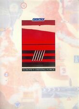 Fiat Regata Prospekt GB 3/89 brochure 1989 Auto PKWs Broschüre Italien Werbung