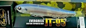 "EVERGREEN JT-95-274 JT Walking Pencil Floating 3 3/4"" 3/8oz Striped Shad Lure"