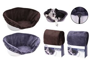 DOG / CAT  PLUSH BED  COVERS ASST: SIZES AND COLOURS .