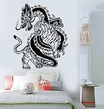 Vinyl Wall Decal Chinese Dragon Tiger Fight China Asian Art Stickers (307ig)