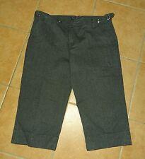 Damen Stiefel-Hose Street One Capri-Hose Serge 38-40 M grau-schwarz blau meliert