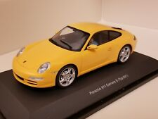 AutoArt Slot Car 1:24 Porsche 911 Carrera S 997 Yellow Lighting Lamps New