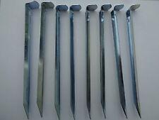 8 x Zeltpflöcke 17,5cm Erdnägel Stahl Verzinkt Zeltheringe Zeltnägel Camping