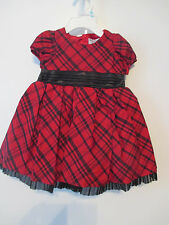 Hartstrings Baby Girl 2 pc.  Party Dress Red/Black Sz. 6-9 Mons. NWT